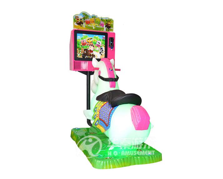 3D儿童摇摆赛马车